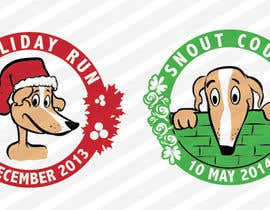 nº 5 pour Design a Logo for two 5K races for Dog Rescue group - repost par leninvallejos