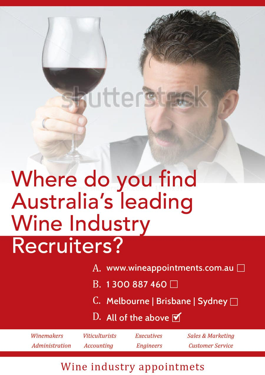 Penyertaan Peraduan #13 untuk Design an Advertisement for recruitment into the wine industry