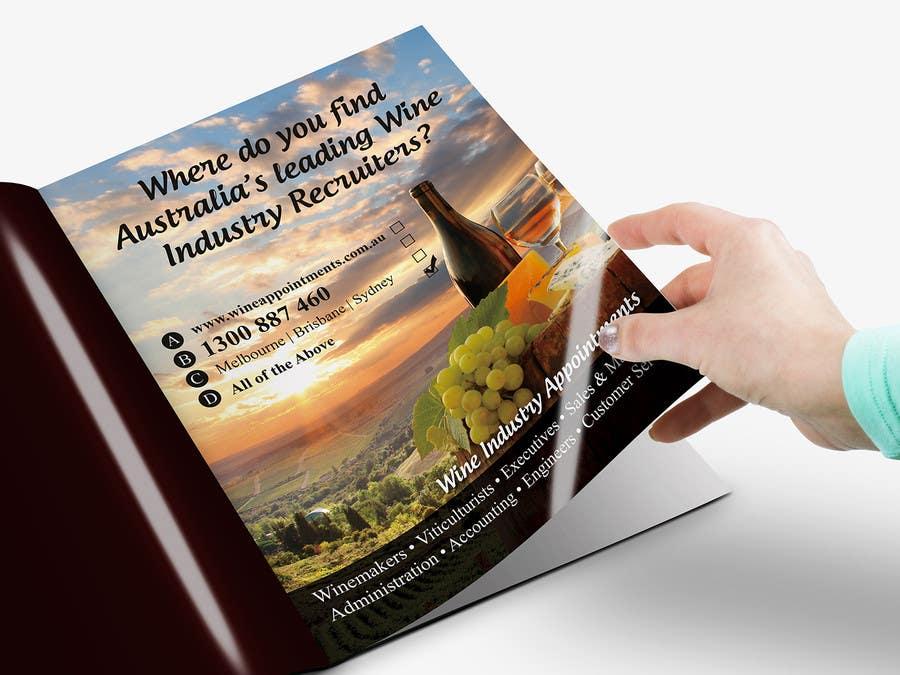Penyertaan Peraduan #17 untuk Design an Advertisement for recruitment into the wine industry