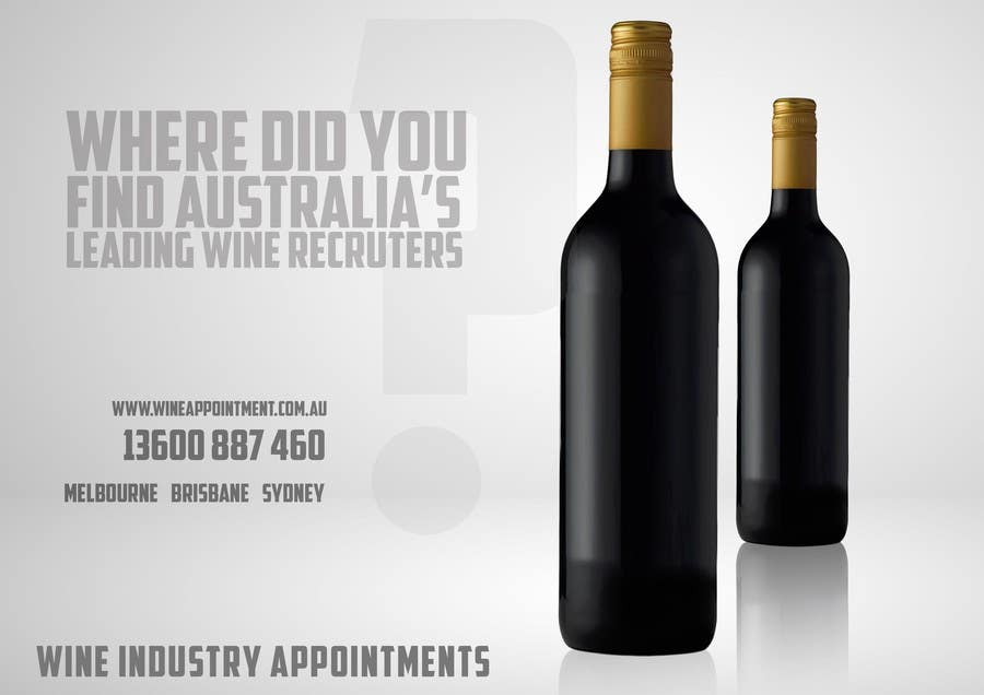Konkurrenceindlæg #9 for Design an Advertisement for recruitment into the wine industry