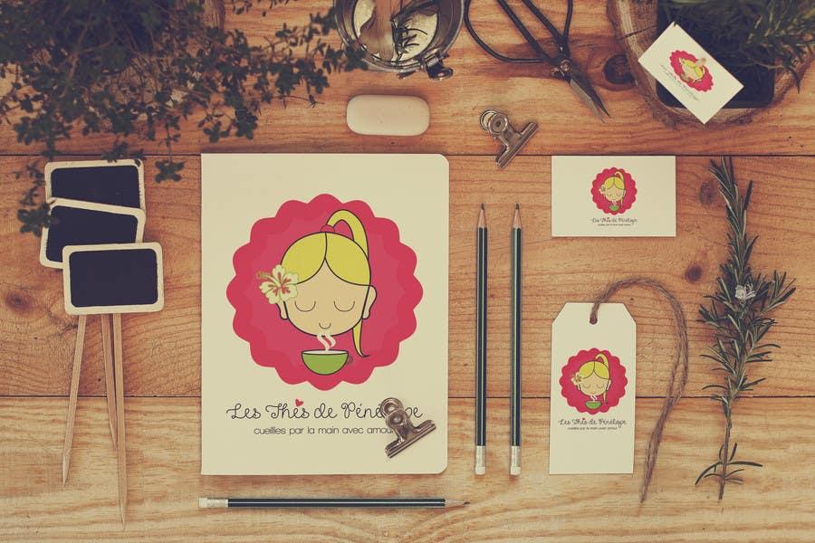 Penyertaan Peraduan #                                        70                                      untuk                                         Logo for a young girl home grown herbal tea compagny (les Thés de Penny)