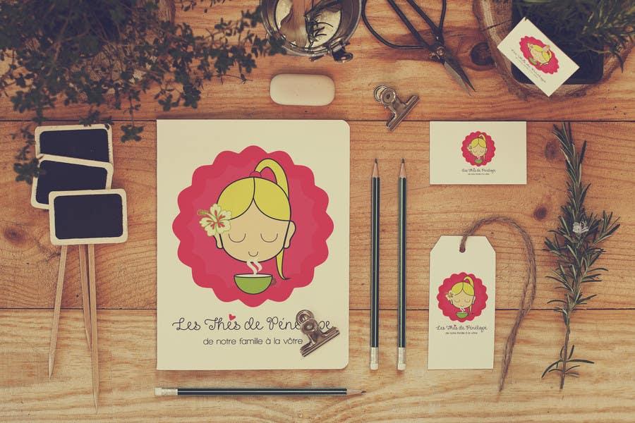 Penyertaan Peraduan #                                        74                                      untuk                                         Logo for a young girl home grown herbal tea compagny (les Thés de Penny)