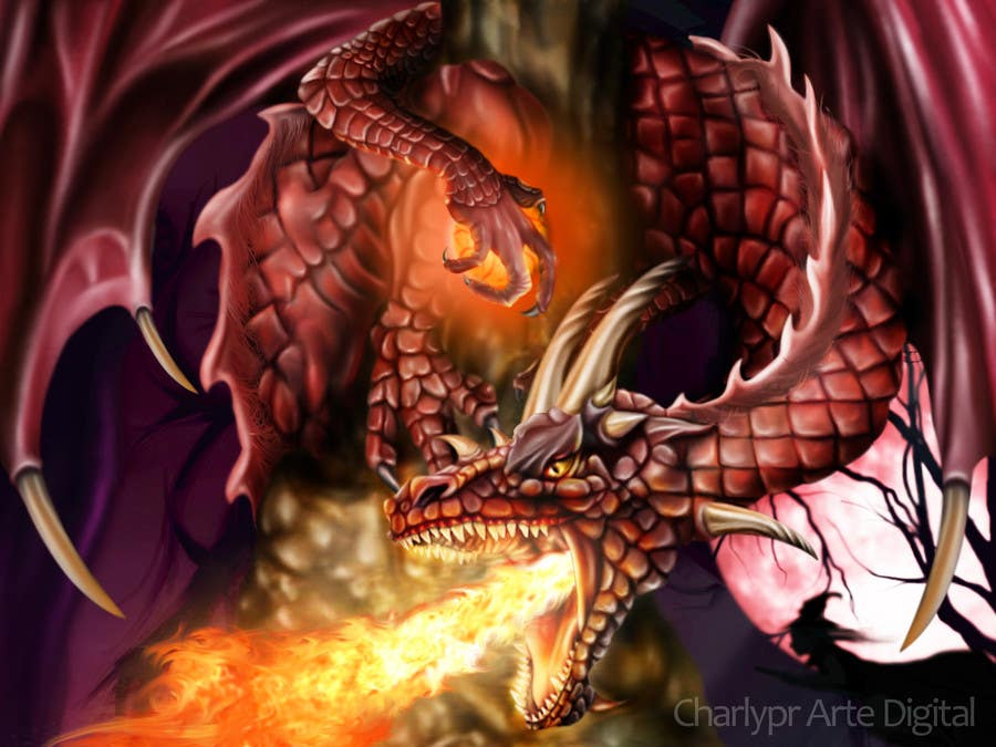 #36 for Awesome Dragon Illustration by Charlypr