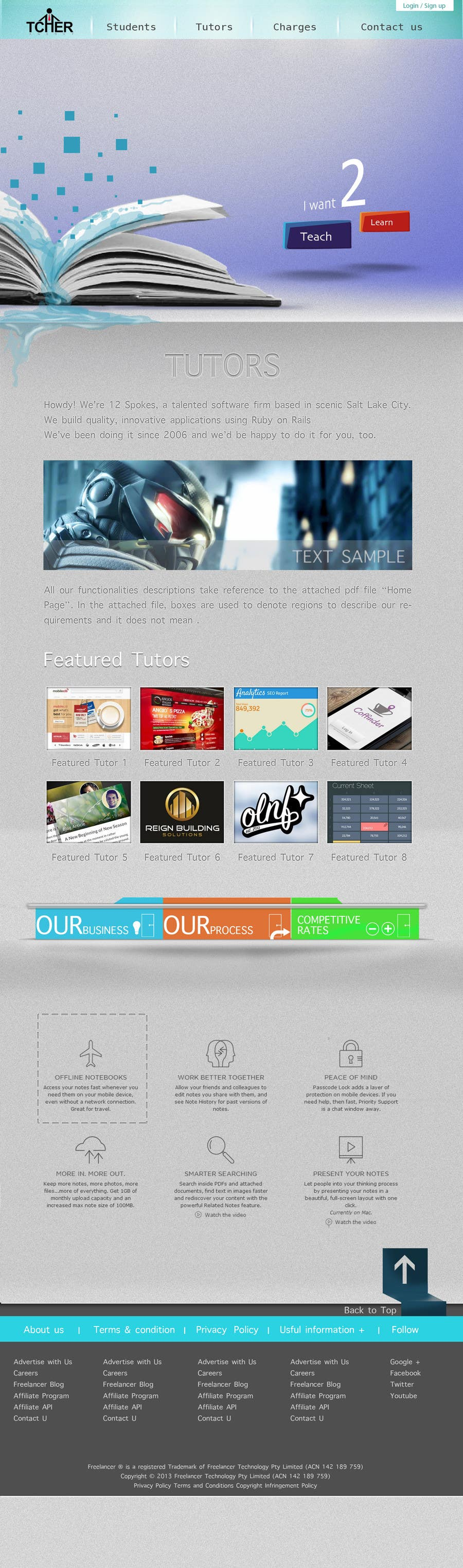 #13 for Graphics Design for Home Page of TCHER Agency Website by DXDesigner