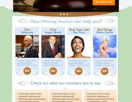 #32 para Design a Website Mockup for AttorneyAuction.com por Genshanks