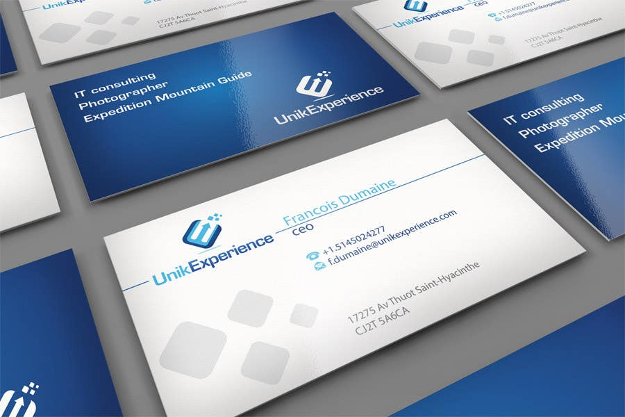 #27 for Design Business Cards for Unik Experience by midget