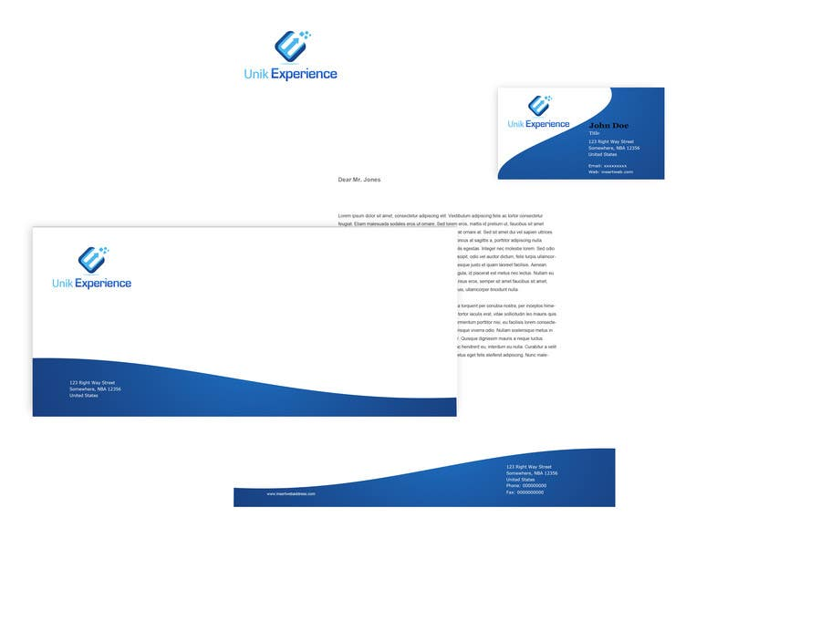 #20 for Design Business Cards for Unik Experience by Silverlyte