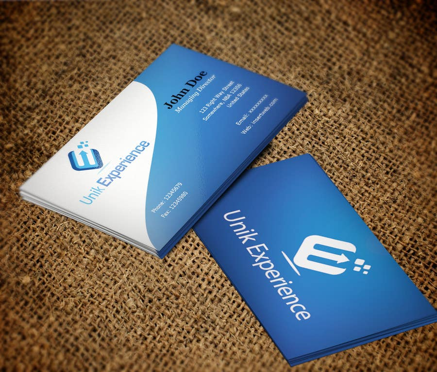 #21 for Design Business Cards for Unik Experience by Silverlyte