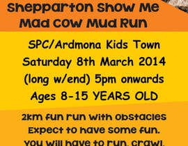 #38 untuk Design a Flyer/Poster for Mad Cow Mud Run oleh linokvarghese