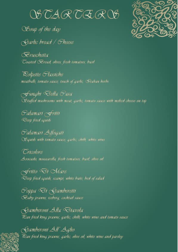 #1 for Menu for Italian Restaurant by iconwebservices