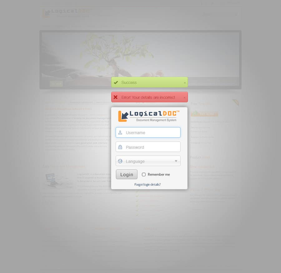#8 for I need some Graphic Design for Login web-page by tmacka88