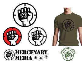 #132 untuk Logo Cartoon Design for Mercenary Media oleh benpics