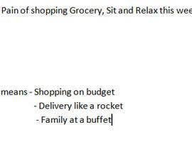 sarju123 tarafından Slogan/Key message for Indian Grocery Website için no 20