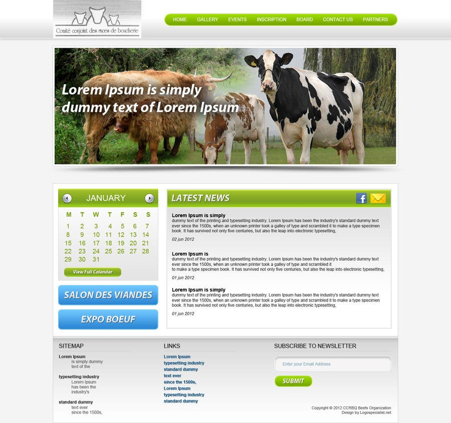 Contest Entry #                                        11                                      for                                         Website Design for Beefs Organization