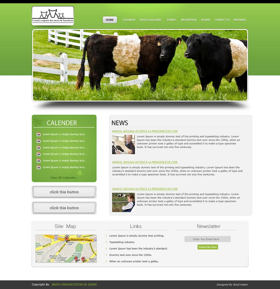 Contest Entry #                                        32                                      for                                         Website Design for Beefs Organization