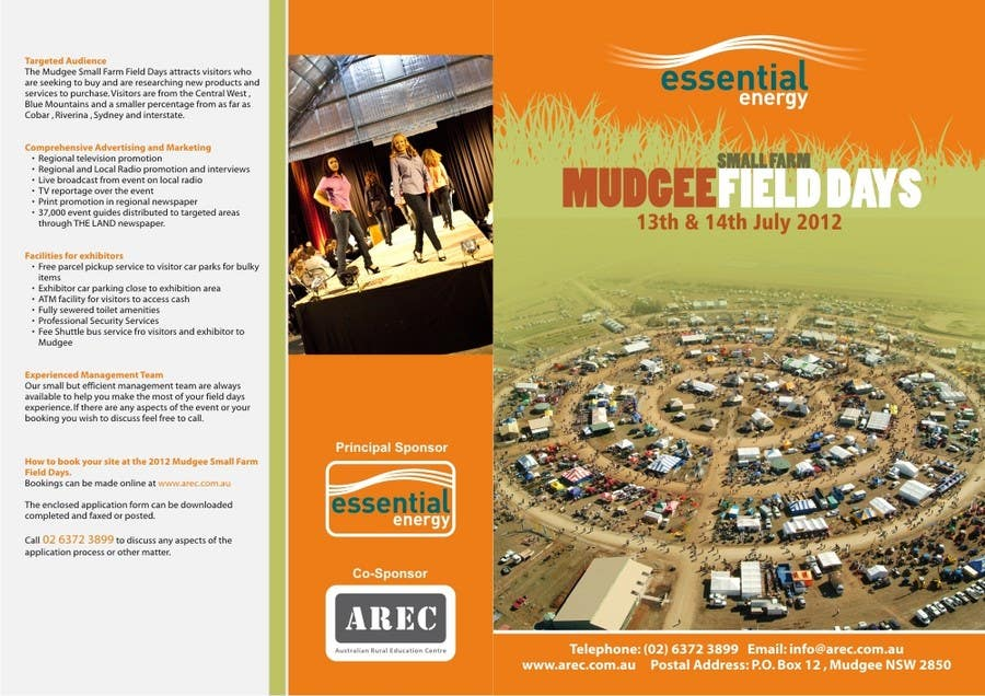 #4 for Brochure Design for Mudgee Small Farm Field Days by imaginativeGFX