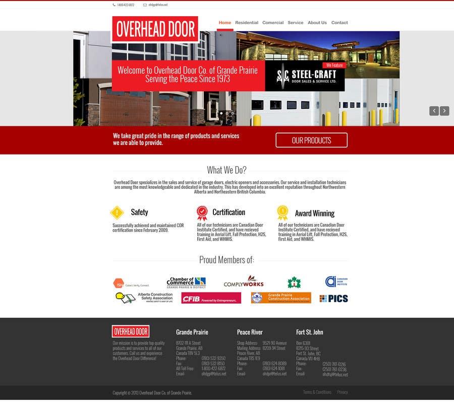 #11 for Design a Website Mockup for www.overheaddoorgp.com by CreativeWebLab