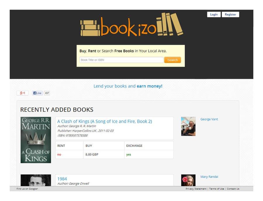Penyertaan Peraduan #51 untuk Redesign Bookizo.com Homepage