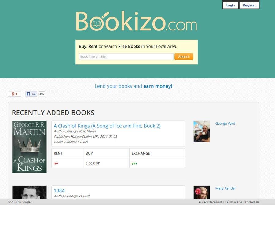 Penyertaan Peraduan #53 untuk Redesign Bookizo.com Homepage