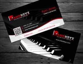 #42 for Design a Business Card for PianoKeyz, an online membership site for piano lessons af cucgachvn