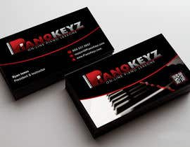 #13 for Design a Business Card for PianoKeyz, an online membership site for piano lessons af linokvarghese