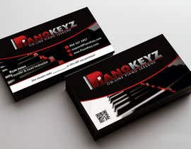#29 for Design a Business Card for PianoKeyz, an online membership site for piano lessons af linokvarghese