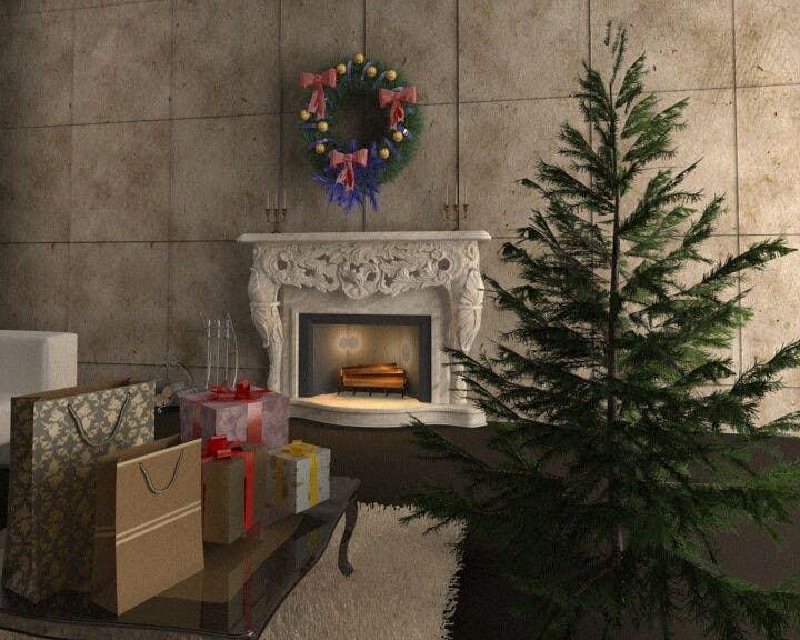 Inscrição nº 1 do Concurso para Create Animated 3D Christmas Scene - Example Provided