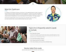 Nro 13 kilpailuun Website design for public speaker käyttäjältä syrwebdevelopmen
