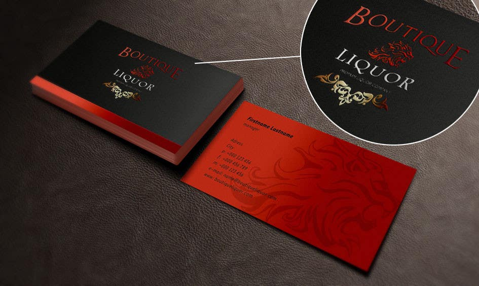 Contest Entry 50 For Design Some Business Cards Boutique Liquor