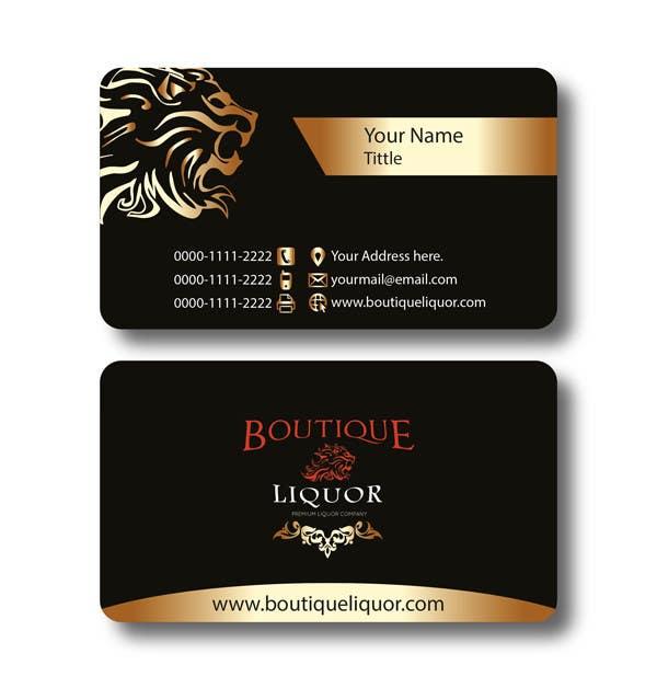 Contest Entry 114 For Design Some Business Cards Boutique Liquor