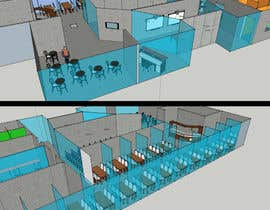 #13 untuk Architectural Floorplan Layout for PolarPointe Business Cafe oleh pdr24