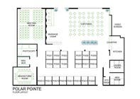 Graphic Design Entri Peraduan #9 for Architectural Floorplan Layout for PolarPointe Business Cafe