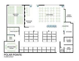 nº 9 pour Architectural Floorplan Layout for PolarPointe Business Cafe par rainy14dec