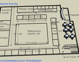 #20 untuk Architectural Floorplan Layout for PolarPointe Business Cafe oleh bhetzkie
