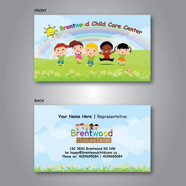 Entry 8 by teamgrafic for business card child care center 2 contest entry 8 for business card child care center 2 colourmoves