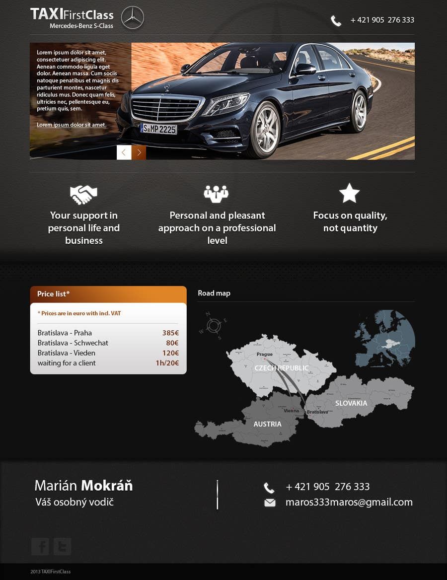 #13 for Desing a single page website according to a business card by zlostur