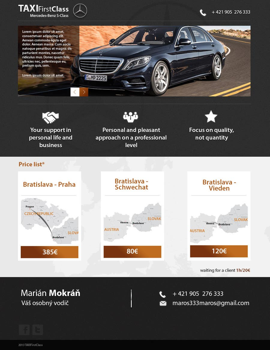 #14 for Desing a single page website according to a business card by zlostur
