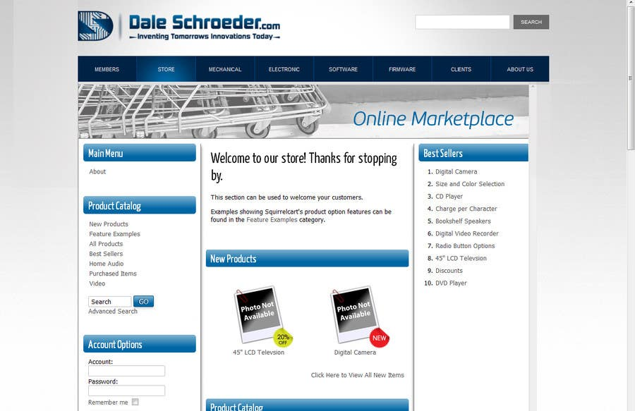 Contest Entry #                                        7                                      for                                         Design a Banner for Dale Schroeder.com Online Store