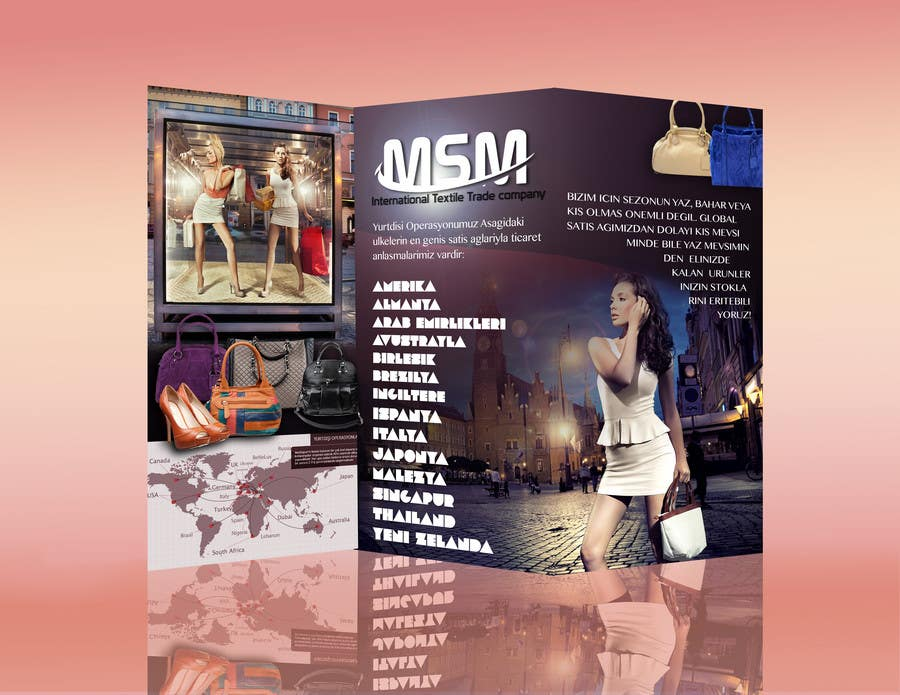 #12 for Design a Brochure for a Clothing Trade company by aqdesigns