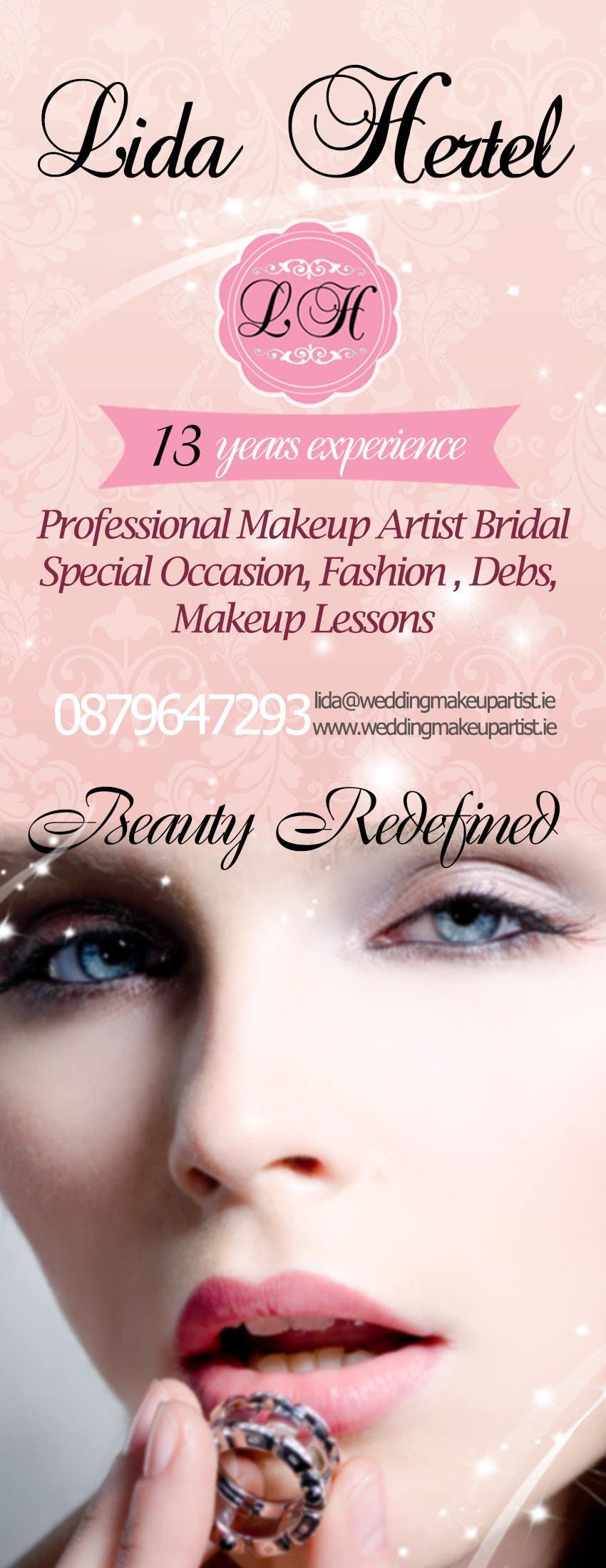 Penyertaan Peraduan #                                        20                                      untuk                                         Design a Pull-Up Banner for Makeup Artist