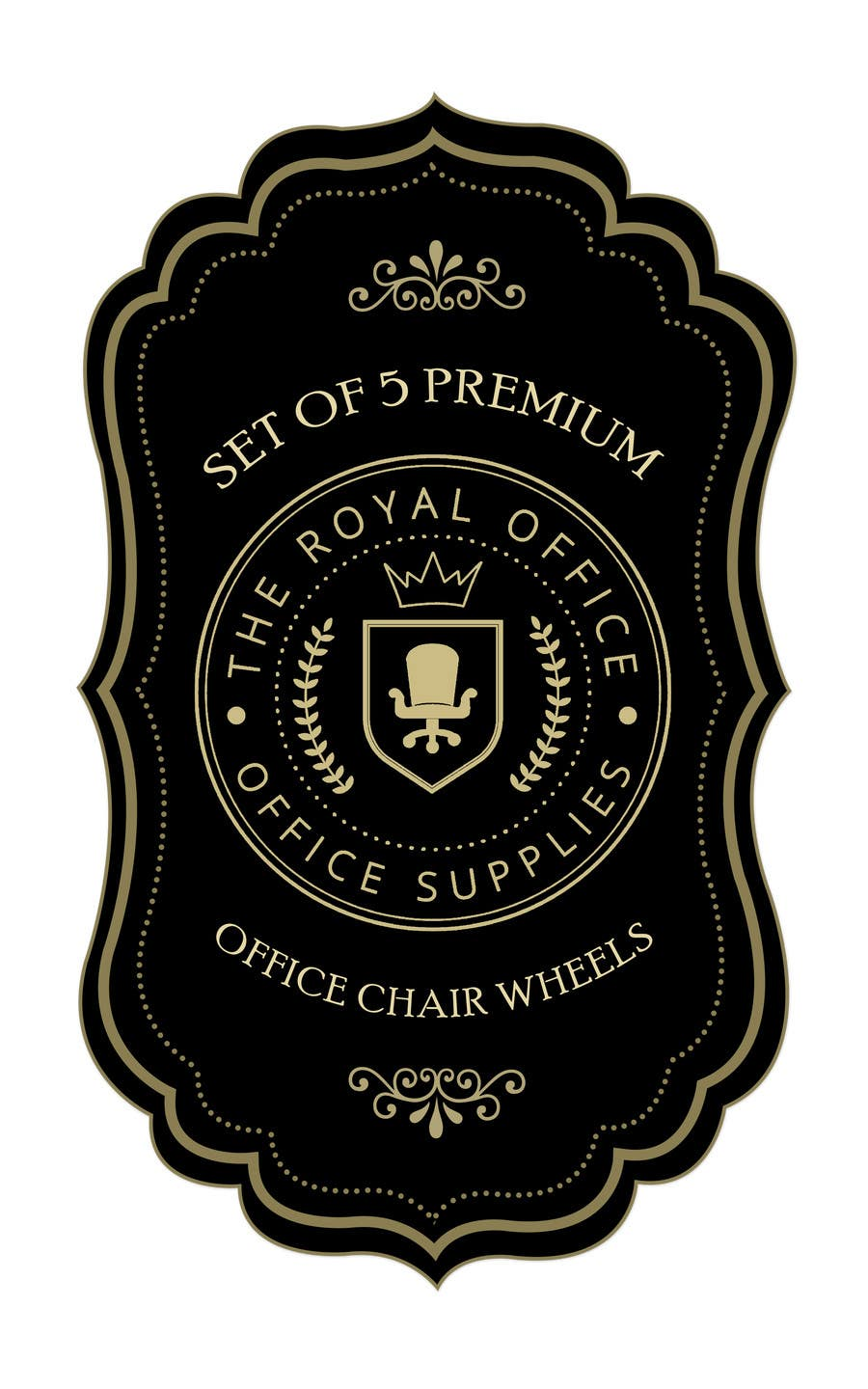 "Kilpailutyö #68 kilpailussa design a label for a luxury office brand called ""The royal office"""