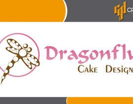 #10 untuk Design a Logo for Dragonfly Cake Design. 1/2 done already oleh CasteloGD