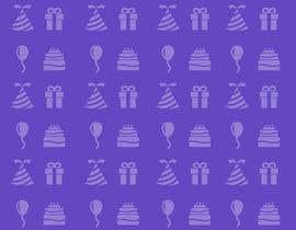Nro 8 kilpailuun Design a background with party icons käyttäjältä joeljrhin