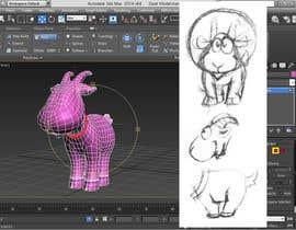 AdrianniBotina tarafından 3D Modelling and Animation of a Cartoon game character için no 11