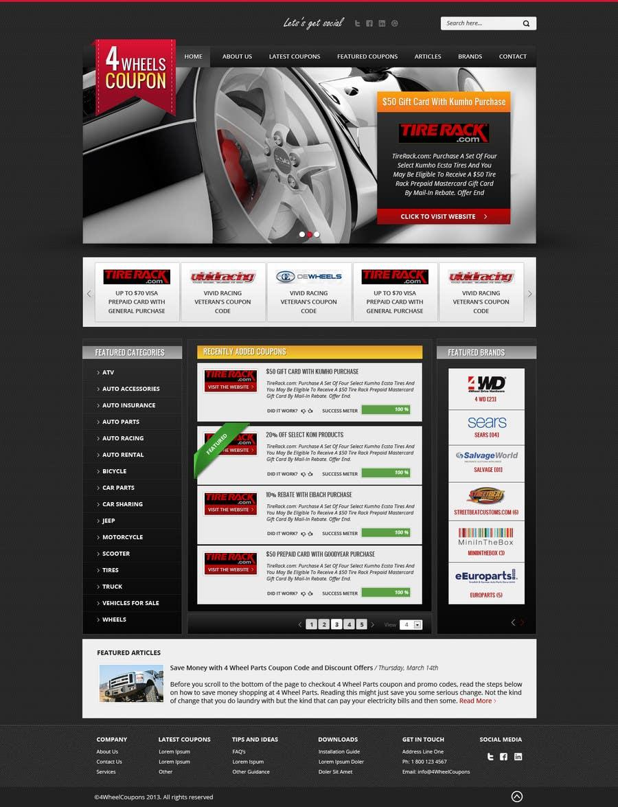 Inscrição nº                                         11                                      do Concurso para                                         Design a Website Mockup for 4WheelsCoupon.com