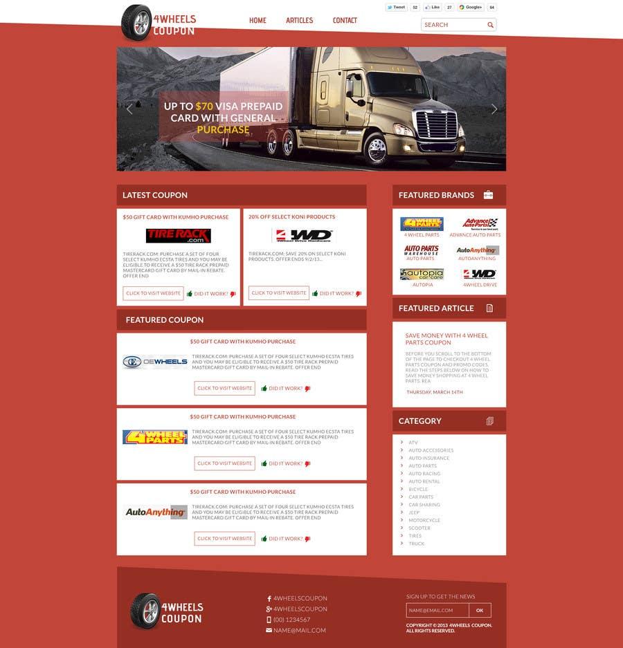 Inscrição nº                                         25                                      do Concurso para                                         Design a Website Mockup for 4WheelsCoupon.com