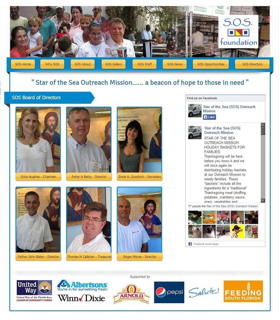 Penyertaan Peraduan #24 untuk Design a Website Mockup for fast growing nonprofit food pantry