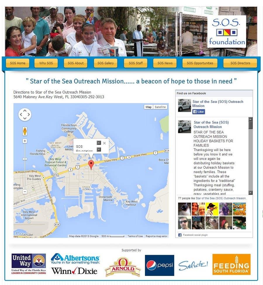 Penyertaan Peraduan #27 untuk Design a Website Mockup for fast growing nonprofit food pantry