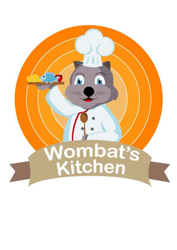 Proposition n°27 du concours Restaurant Logo Design - drawing a wombat whos a chef!
