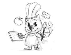 #3 for Restaurant Logo Design - drawing a wombat whos a chef! af eycartoons